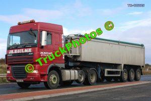 TR-00225 DAF XF Reg:- FE08UWZ Op:- JH Haulage