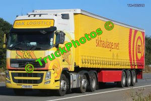 TR-00518 Volvo  Reg:- YT60EDJ Op:- S&K Haulage