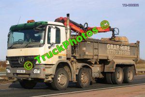 TR-00692 Mercedes Actros Reg:- HX08XGL Op:- Grab Hire