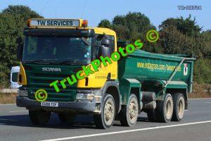 TR-00724 Scania P380 Reg:- EU08TGF Op:- TW Services